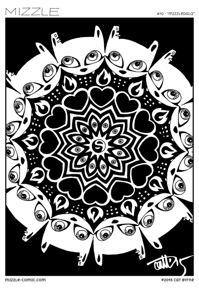 Mizzledala mandala for Mizzle Comic