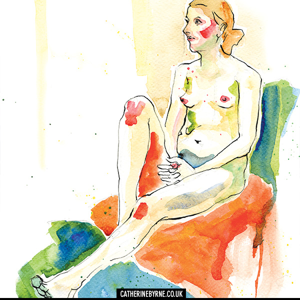 Lisa 7 life drawing by Cat Byrne