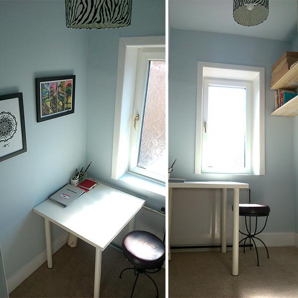 Cat Byrne art studio 1