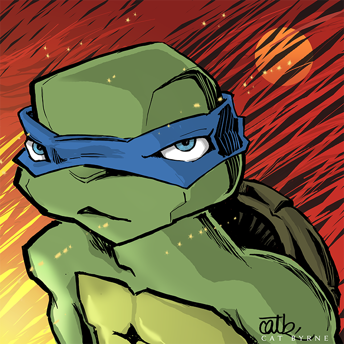 Leo TMNT by Cat Byrne