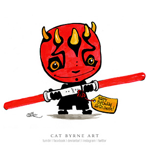 Chibi Darth Maul by Cat Byrne