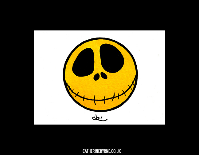 jack skellington smiley face by Cat Byrne