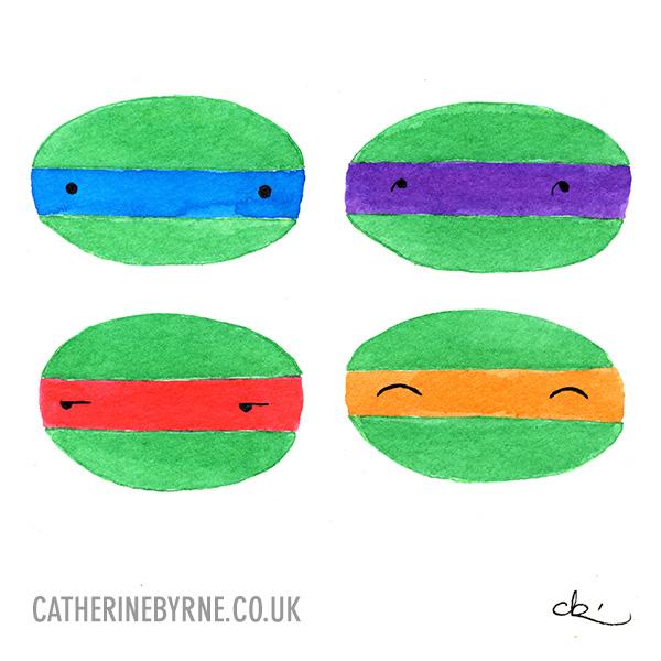 4 cuties by Cat Byrne TMNT