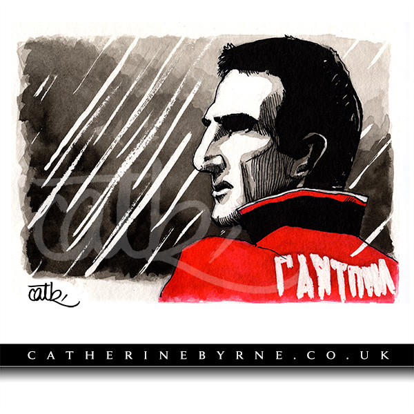 Mancunia - Eric Cantona - by Cat Byrne for Inktober