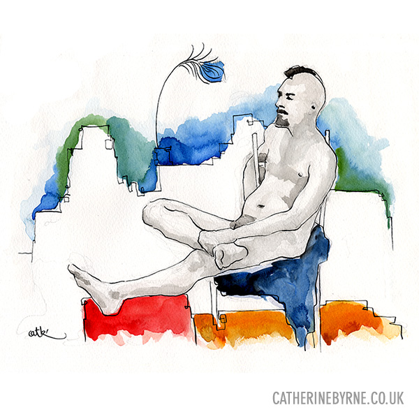 James 10 life drawing by Cat Byrne
