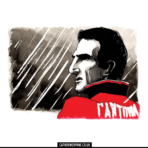 Eric Cantona Mancunia art by Cat Byrne