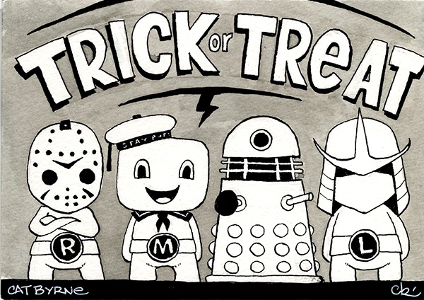 TMNT trick or treat halloween by Cat Byrne