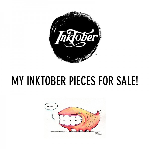 Inktober art for sale by Cat Byrne