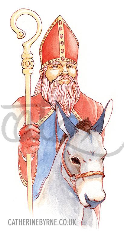 St Nicholas illustration by Cat Byrne