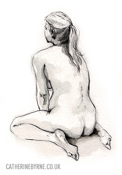 Christina 24 life drawing by Cat Byrne