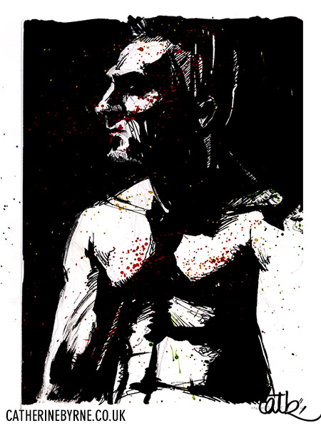 Dave III 2 - ink life drawing by Cat Byrne