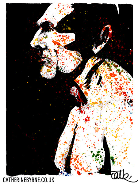 Dave III 4 - figure drawing in ink by Cat Byrne Todmorden
