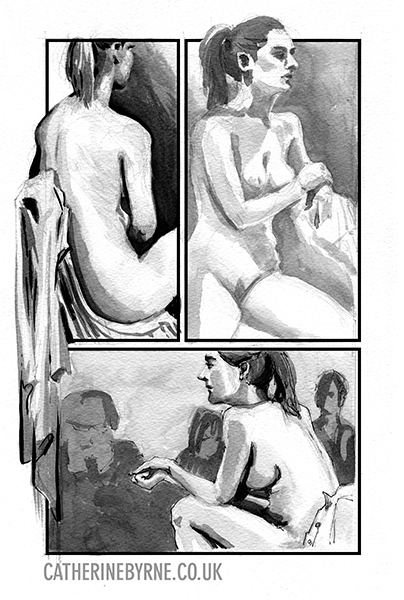 Ola 6 life drawing by Cat Byrne Todmorden UK