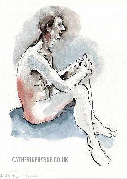 Steve 12 figure drawing by Cat Byrne in Todmorden