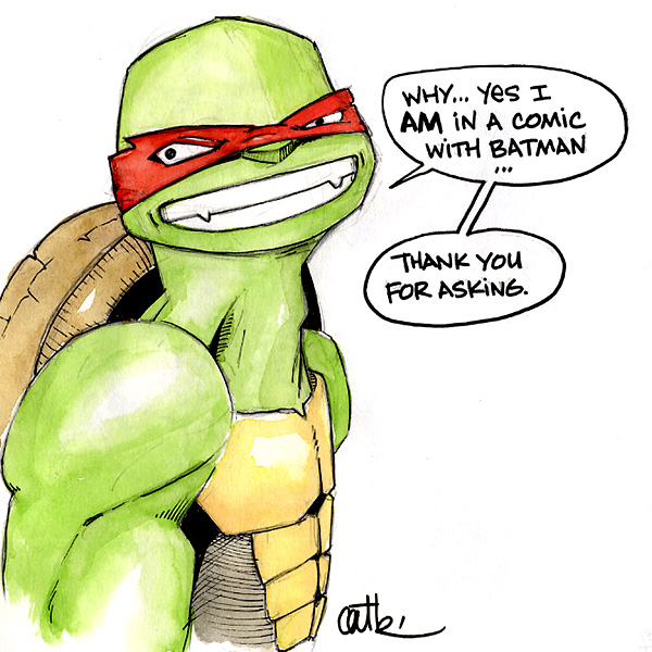TMNT Raphael is a batman fanboy by Cat Byrne