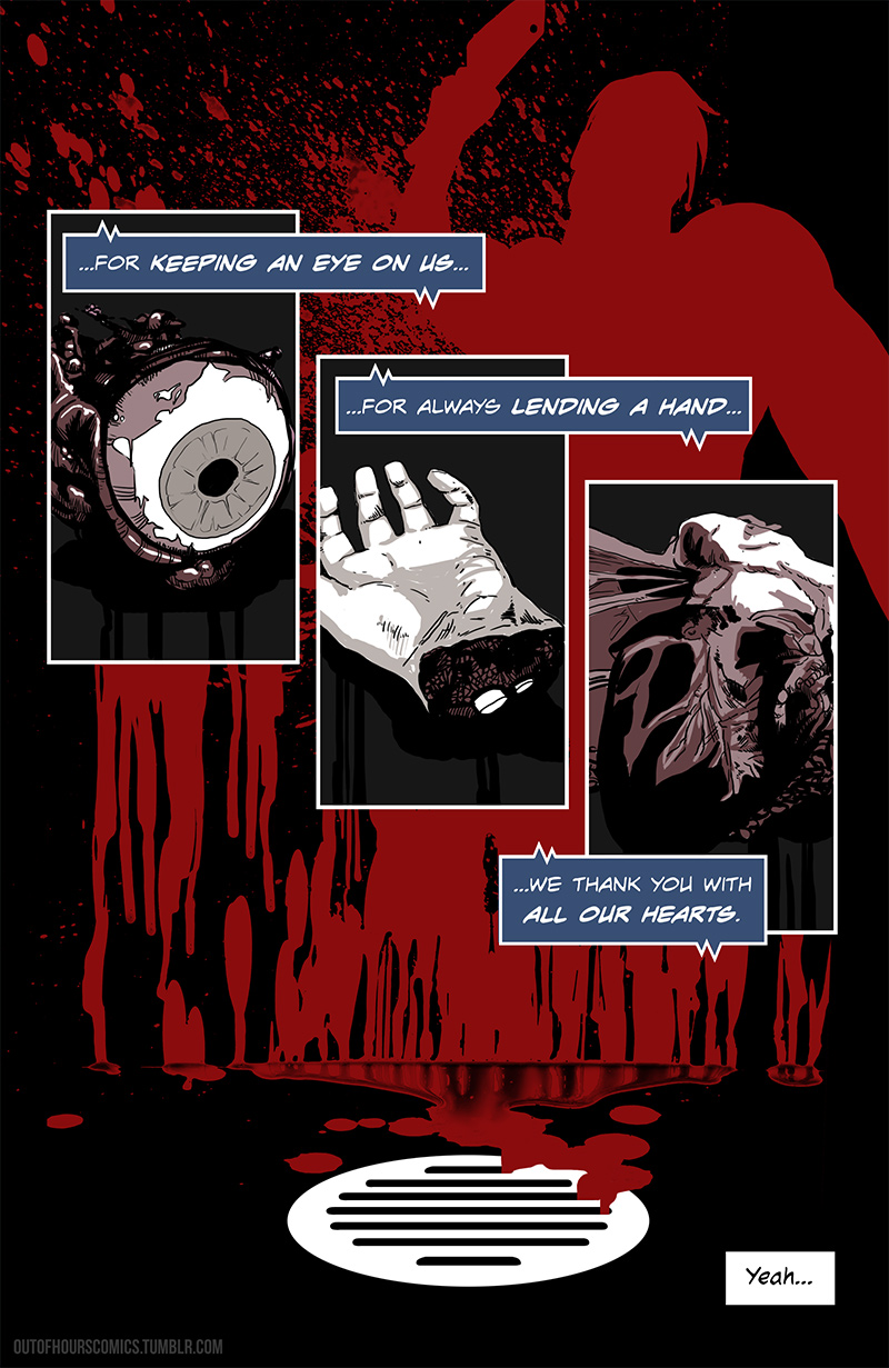 Mr Omega page 5 by Mert Yeygun and Cat Byrne for Out of Hours Comics