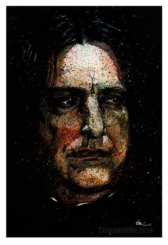 Snape tribute to Alan Rickman by Cat Byrne