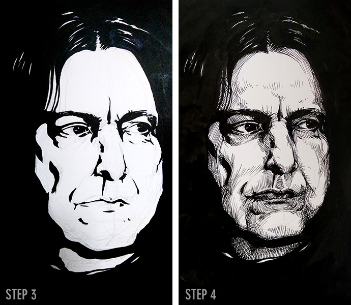 Snape steps 3-4 by Cat Byrne