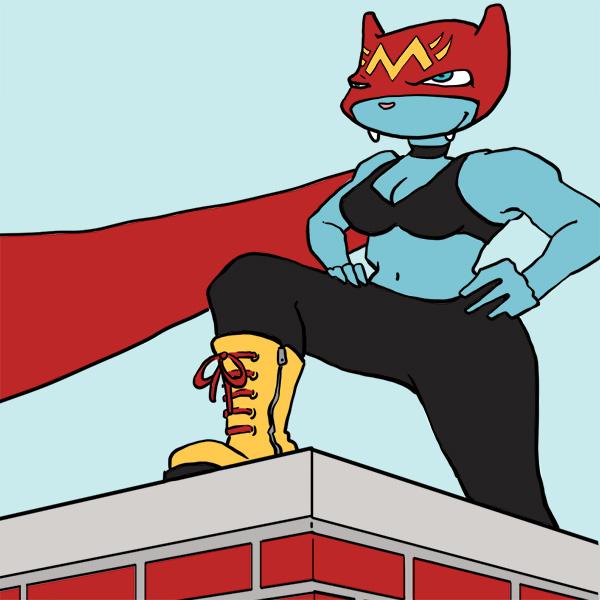 Mizzle 48 Cat Superhero by Cat Byrne