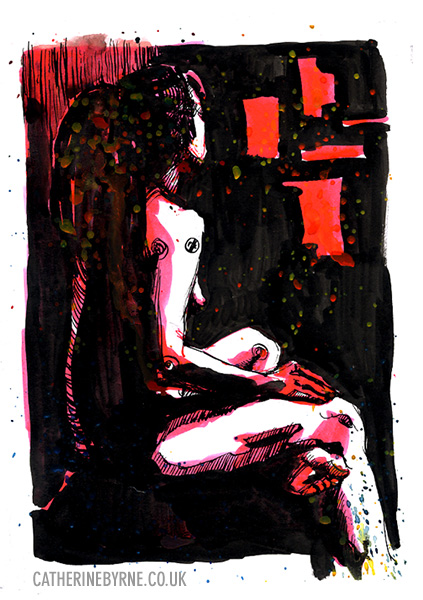 Anita 23 life drawing by Cat Byrne
