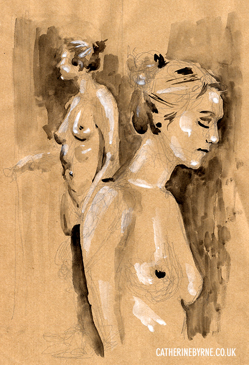 Tasha 8 life drawing Todmorden by Cat Byrne
