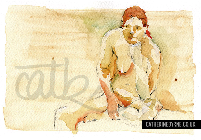christina 28 life drawing by cat byrne in todmorden