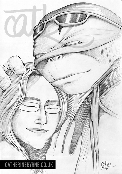 2014 TMNT Raph commission by Cat Byrne