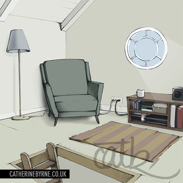 Attic room by Cat Byrne