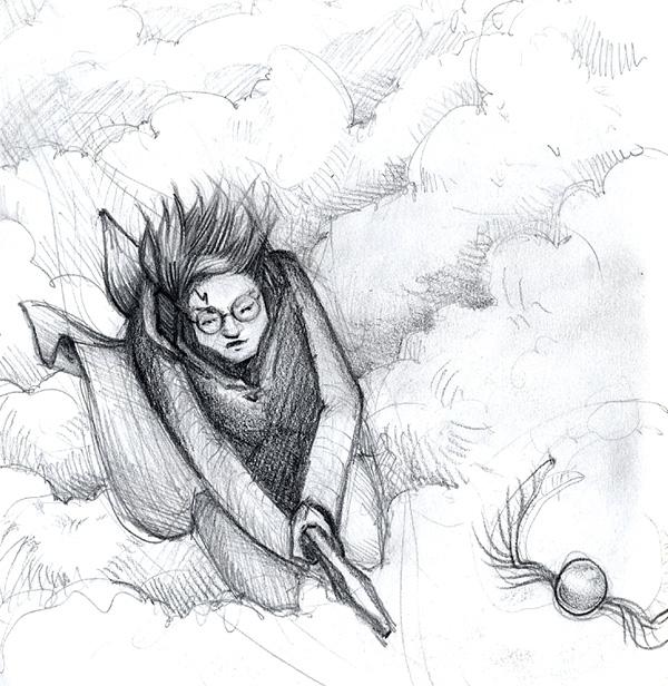 Harry Potter sketch by Cat Byrne
