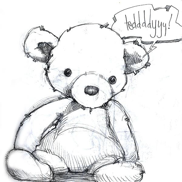 teddy sketch by Cat Byrne