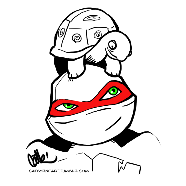 2012 Raph and Spike - 10 minute TMNT by Cat Byrne
