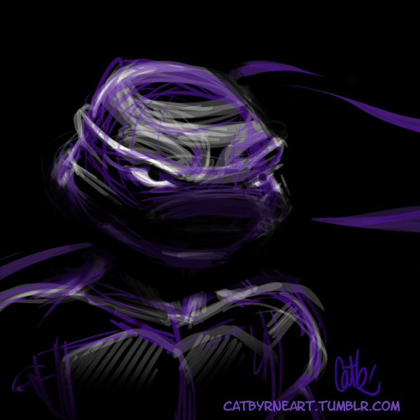 2007 Donatello TMNT fan art by Cat Byrne