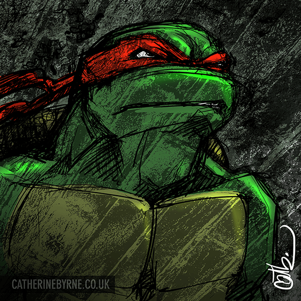 TMNT raphael sketch by Cat Byrne
