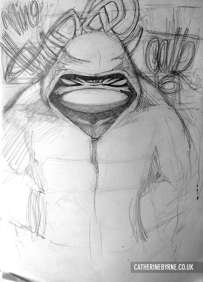 Rpah Shady Pencils by Cat Byrne