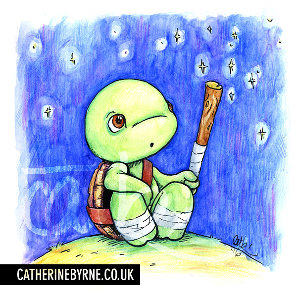 TMNT turtle tots - donatello - baby believer- by cat byrne