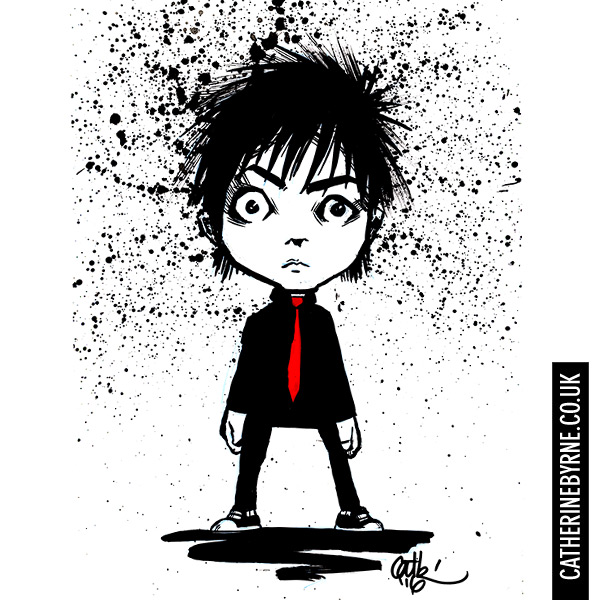 Chibi Green Day Billie Joe Armstrong by Cat Byrne for inktober 2016