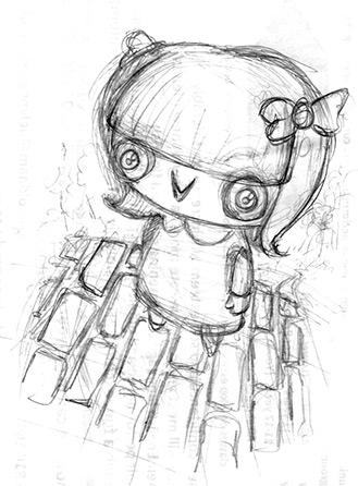 Nancy pencils by Cat Byrne