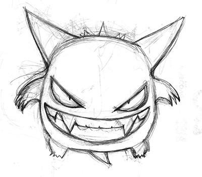Gengar pokemon pencils by Cat Byrne