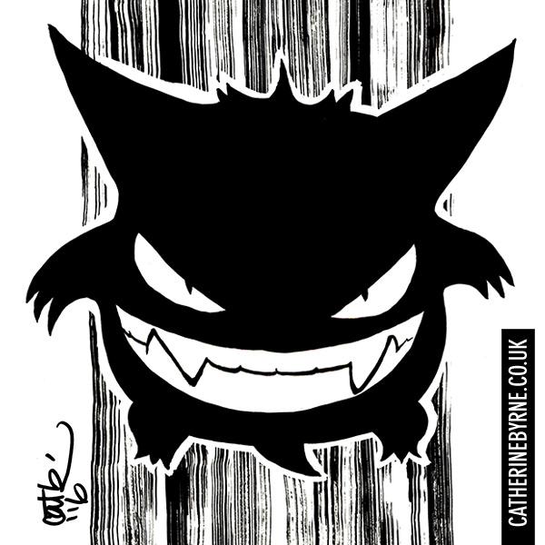 Gengar Pokemon by Cat Byrne for Inktober 2016