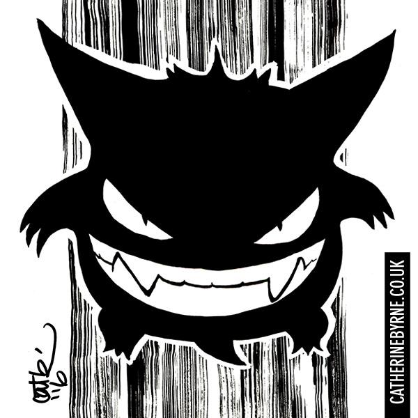 Gengar Pokemon by Cat Byrne for Inktober 2016