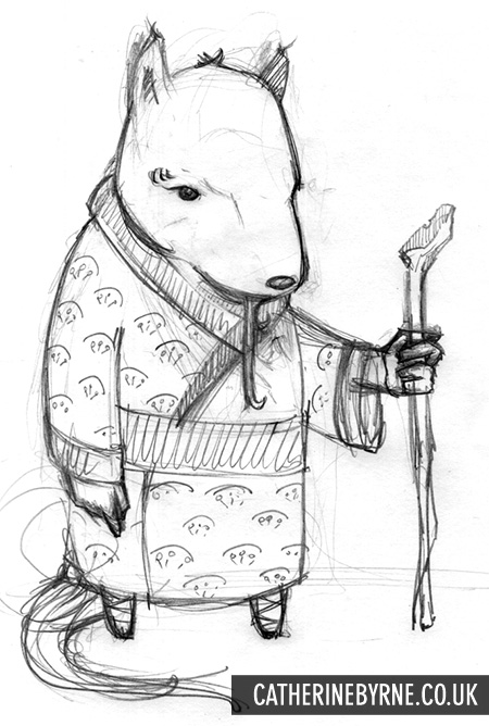 TMNT Splinter pencils by Cat Byrne
