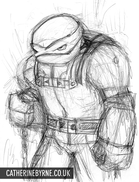 Nightwatcher pencils by Cat Byrne - TMNT Raphael fan art