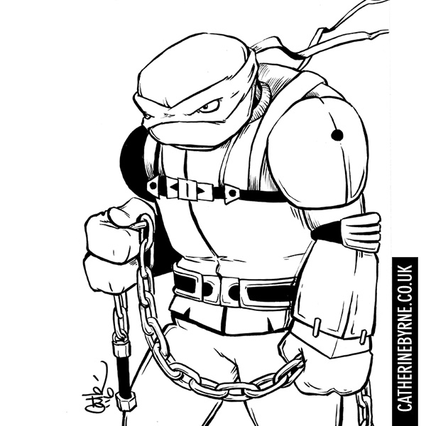 Raphael the Nightwatcher inktober 2016 TMNT fan art by Cat Byrne