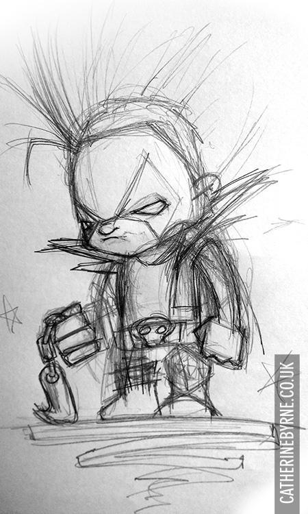 Lobo roug pencils by Cat Byrne