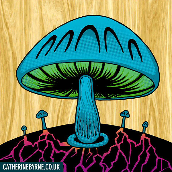 Ancient ones - extraterrestrial mushroom race from Mizzle Comic by Cat Byrne