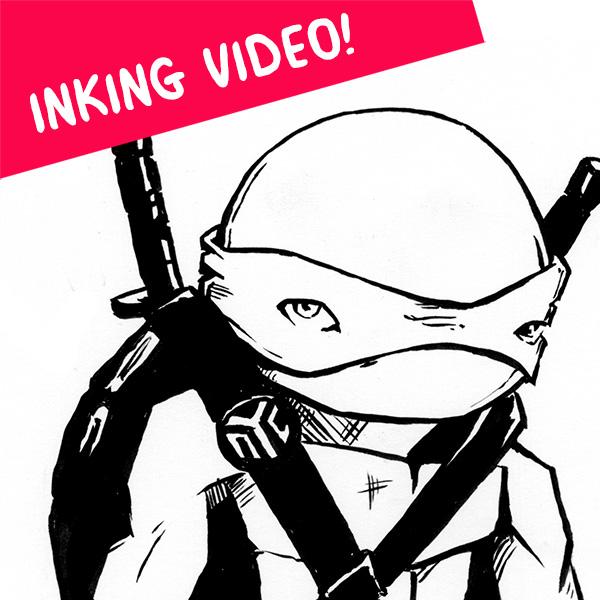 leo-inking-video-tmnt-ninja-turtles-leonardo