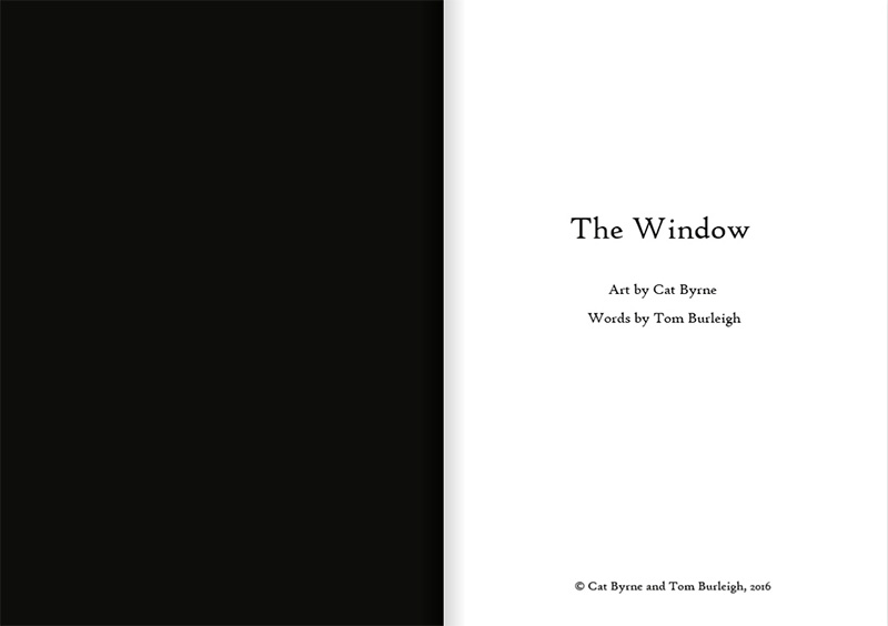 The Window - inside front cover - by Cat Byrne and Tom Burleigh