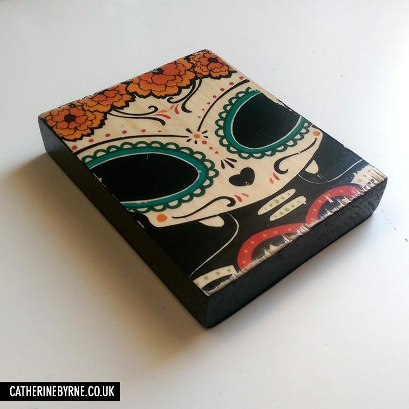 El Dia de la Mizzle - printed wood block by Cat Byrne