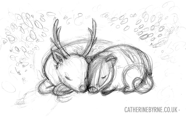 badger-and-stag-pencils-low-res-by-cat-byrne