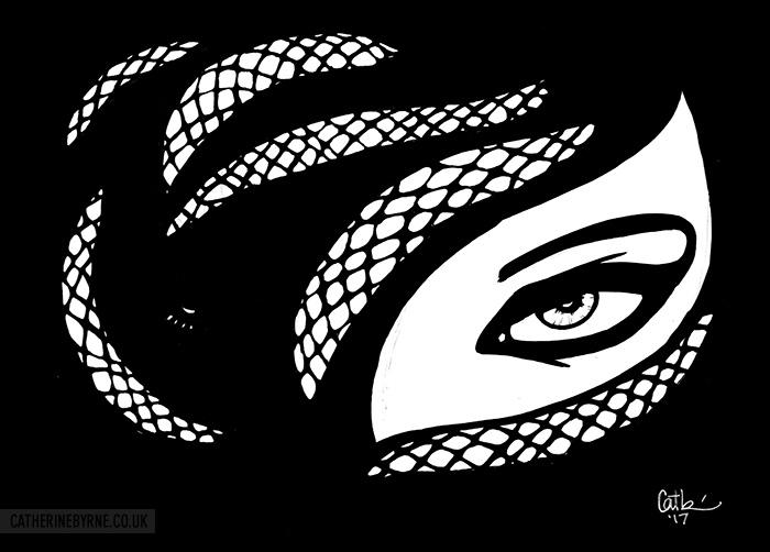 Medusa inks by Cat Byrne
